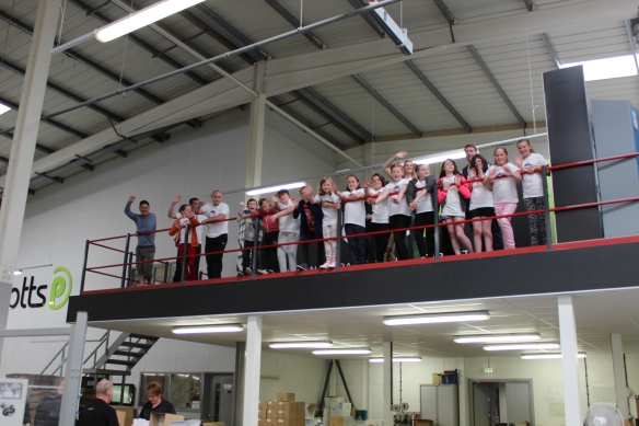 Proper little VIP's once more at Potts Printers scanning the factory floor!